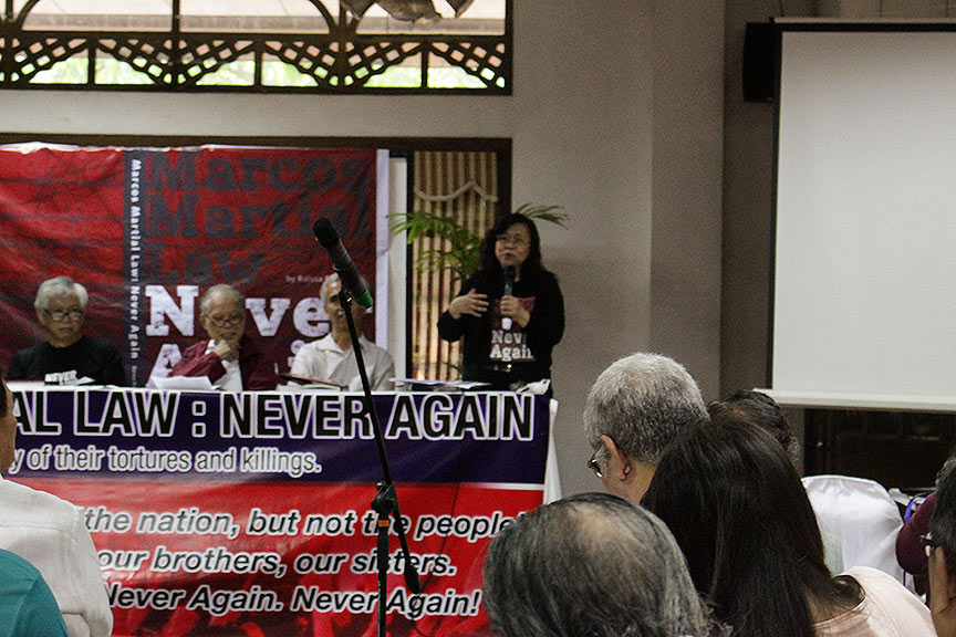 Never Again book launch