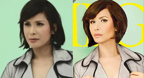 Jinkee Pacquiao, Mega Magazine, before and after