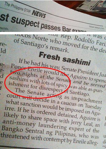 Philippine Star typo