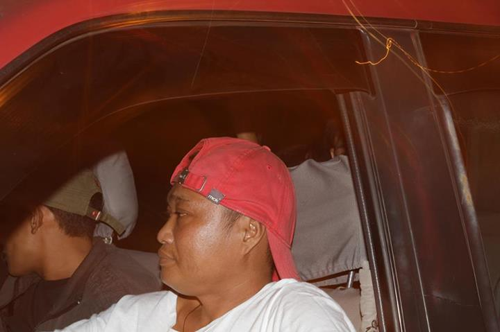 Drunk driver, red Mitsubishi Adventure WJA 662