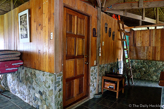 Sundang Island, door to the bedroom